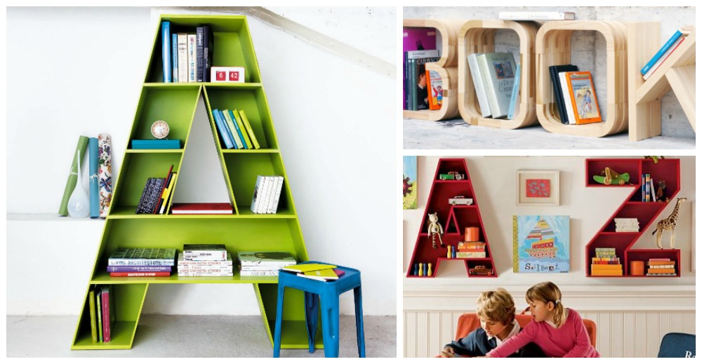 Stunning Effect Amazing Shelving Ideas for Kids' Room - letter