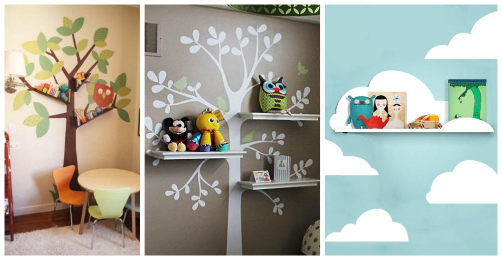 Stunning Effect Amazing Shelving Ideas for Kids' Room - wall mural
