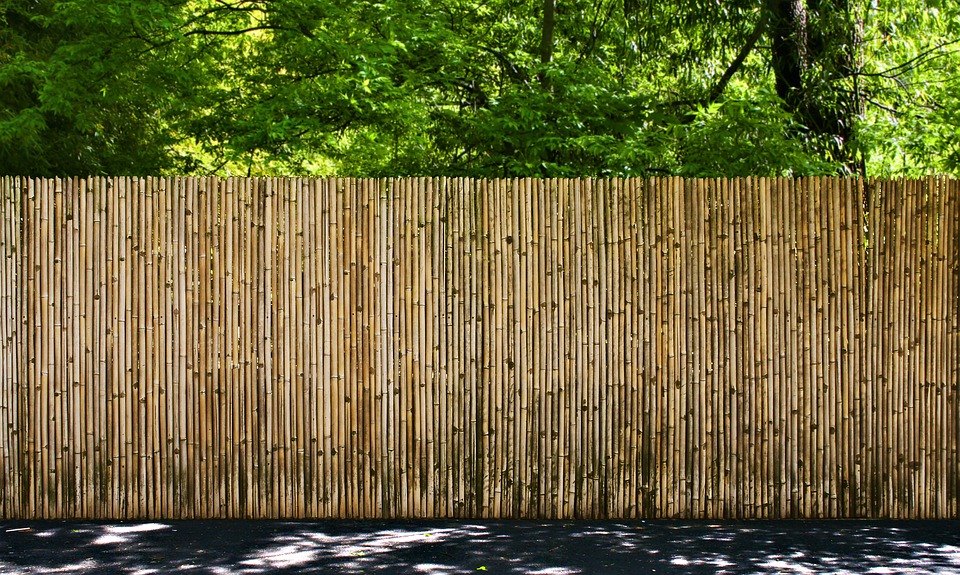 Bamboo Garden Fence Woods Security Outdoors